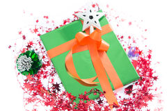 Colorful gift boxes Beautiful. Isolated white background. Stock Images