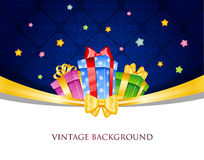 Colorful gift boxes with bows Stock Photography