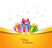 Colorful gift boxes with bows Royalty Free Stock Images