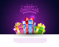 Colorful gift boxes with bows Royalty Free Stock Image
