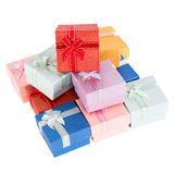 Colorful gift boxes Stock Photography