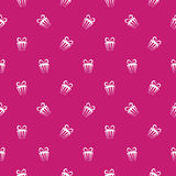 Colorful gift boxes pattern Stock Photos