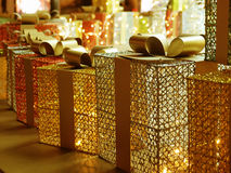 Colorful gift boxes. Stock Photography