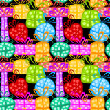 Colorful Gift boxes seamless background Royalty Free Stock Photography