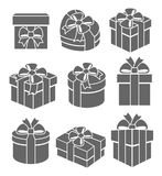 Colorful gift boxes set. Vector Stock Photo