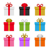 Colorful Gift Boxes Set. Vector Stock Photos