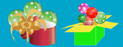 Colorful gift boxes surprise celebration Stock Photo