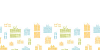 Colorful gift boxes textile texture horizontal Stock Images