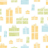 Colorful gift boxes textile texture seamless Stock Images