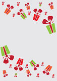 Colorful gift boxes. Vector background for card with colorful gift boxes Vector Illustration