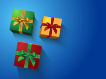 Colorful gift boxes Royalty Free Stock Images