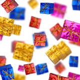 Colorful gift boxes on white background Royalty Free Stock Photo