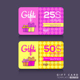 Colorful Gift card Design Template Stock Photography