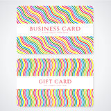 Colorful Gift card / Discount card / Business card Royalty Free Stock Image