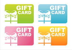 Colorful Gift Cards Stock Image