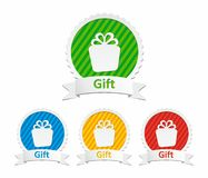 Colorful gift icons Stock Photography