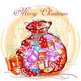 Colorful gift for Merry Christmas holiday celebration Stock Photo