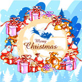 Colorful gift for Merry Christmas holiday celebration Stock Photography