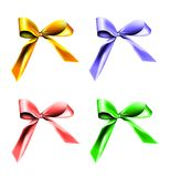 Colorful gift ribbons Stock Photos