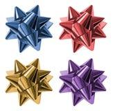 Colorful gift ribbons, bows Stock Image