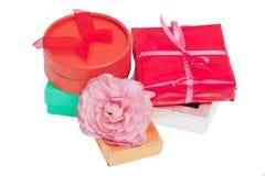 Colorful gift set Stock Image