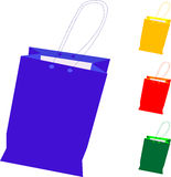 Colorful gift shopping bag isolated on white Royalty Free Stock Images