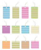 Colorful gift tags with lines. Royalty Free Stock Photo