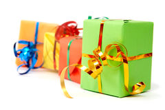 Colorful gifts Royalty Free Stock Images