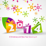 Colorful gifts background. 2014 colorful gifts design background Stock Illustration