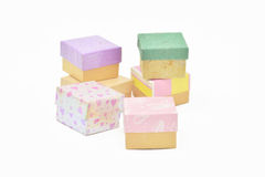 Colorful gifts box Royalty Free Stock Images