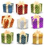 Colorful gifts Stock Images