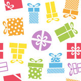 Colorful Gifts Icons Seamless Pattern Stock Photo