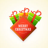 Colorful gifts for Merry Christmas celebration. Royalty Free Stock Photos