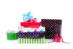 Colorful gifts and presents Royalty Free Stock Photo
