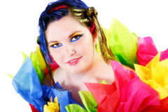 Colorful Girl Royalty Free Stock Image