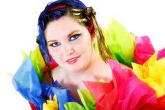 colorful girl Στοκ εικόνα με δικαίωμα ελεύθερης χρήσης