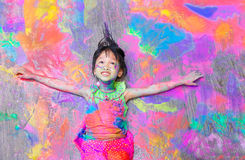 Colorful girl Royalty Free Stock Images