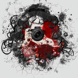 Colorful girl photographer illustration Royalty Free Stock Photos