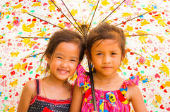 Colorful girls Royalty Free Stock Photo