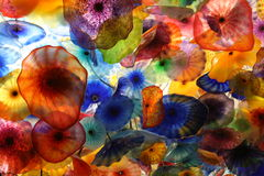Colorful Glass. In the shape of flowers Royalty Free Stock Photo