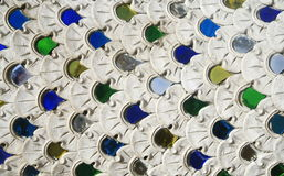 Colorful glass art wall Stock Image
