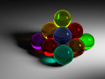 Colorful glass ball pyramide Royalty Free Stock Photo