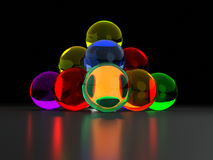 Colorful glass ball pyramide Royalty Free Stock Photos