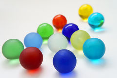Colorful glass balls. Royalty Free Stock Photography