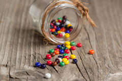 Colorful glass beads closeup Royalty Free Stock Photo