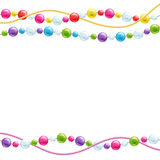 Colorful glass beads decoration background. Mardi gras pattern Royalty Free Stock Photography