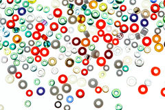 Colorful glass beads isolated on white background. Royalty Free Stock Images