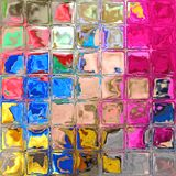 Colorful glass blocks. The pattern from the shiny colorful glass blocks Stock Photo
