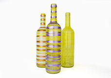 Colorful glass bottles Royalty Free Stock Photo