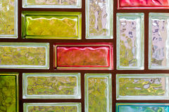 Colorful glass bricks Stock Images